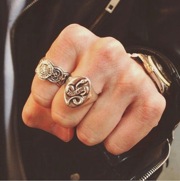 Serpent Ring Silver, Ring, Unmarked Industries - unX Industries - artisan jewelry made in U.S.A