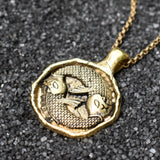 Pisces Zodiac Necklace, Necklace, Unmarked Industries - unX Industries - artisan jewelry made in U.S.A
