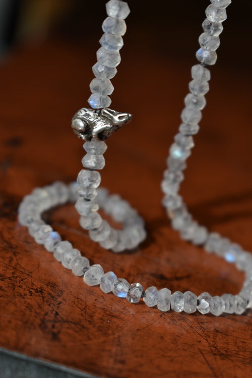 Moonstone Bunny  Necklace