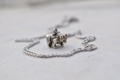 Bear Cub Charm Necklace, Necklace, Unmarked Industries - unX Industries - artisan jewelry made in U.S.A