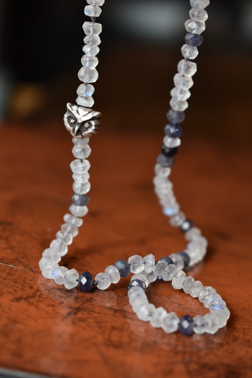 Moonstone Night Watcher Necklace