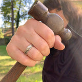 Silver Welders wrap ring, , Unmarked Industries - unX Industries - artisan jewelry made in U.S.A