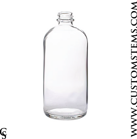 Boston Round Bottle, Clear, 32oz