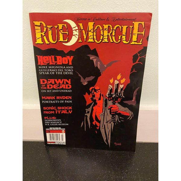 Rue Morgue March April 2004 horror movie magazine Hellboy Dawn of The Dead