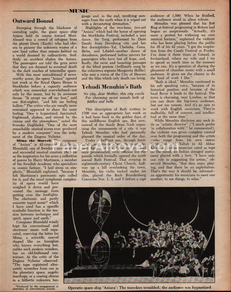 Karl-Birger Blomdahl 1959 old magazine article about concrete electronic music composer