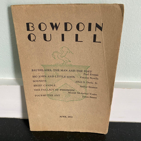 Bowdoin Quill June 1932 College Scholarly Journal magazine Baudelaire