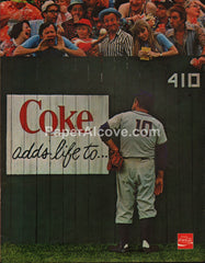 Coke Adds Life to Baseball 1978 vintage original old magazine ad coca-cola soda