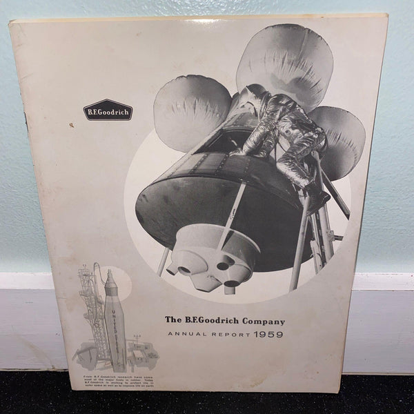 B.F. Goodrich 1959 Annual Report Akron Ohio Business History Movie Prop