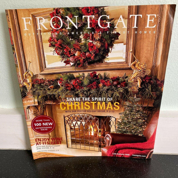 Frontgate Catalog Late Autumn 2008 Share the Spirit of Christmas