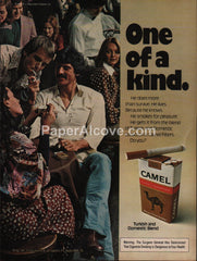Camel Cigarettes Gay 1976 vintage original old magazine ad tobacco