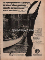 Bear Archery deer hunting bow 1975 vintage original old magazine ad Victor Comptometer Corp.