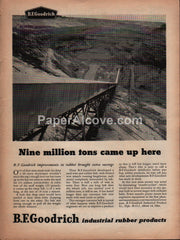 B.F. Goodrich Industrial Rubber Products 1959 vintage original old magazine ad mining
