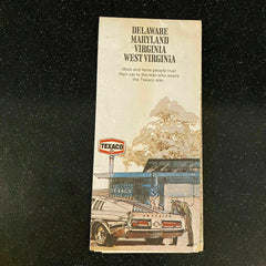 Texaco Delaware Maryland Virginia West Virginia Travel Vintage 1971 Road Map
