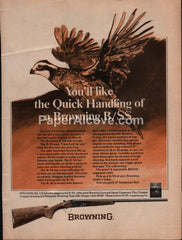 Browning B/SS side-by-side shotgun 1975 vintage original old magazine ad hunting