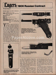 1906 Russian Contract Luger rare gun 1975 vintage original old article