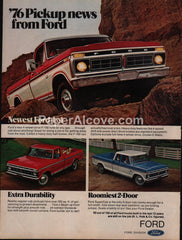 Ford Pickup Trucks 1975 vintage original old magazine ad