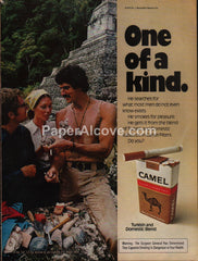 Camel Cigarettes 1975 vintage original old magazine ad man moustache tank-top archeology