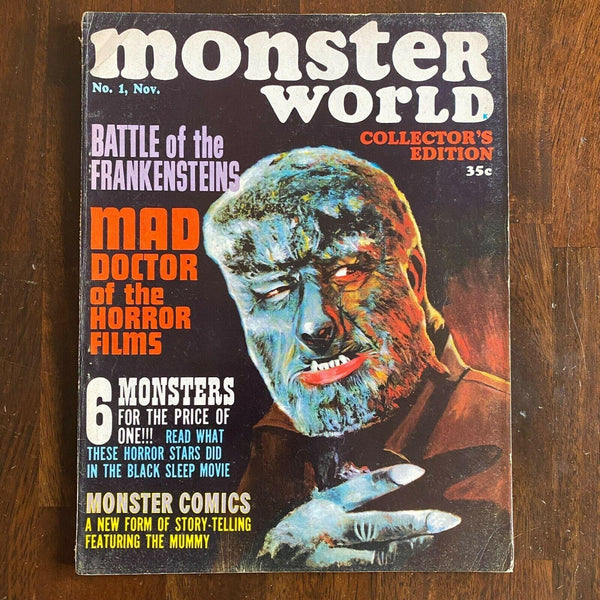 Monster World #1 1964 Lon Chaney Jr Wolfman The Mummy Frank Frazetta horror movies