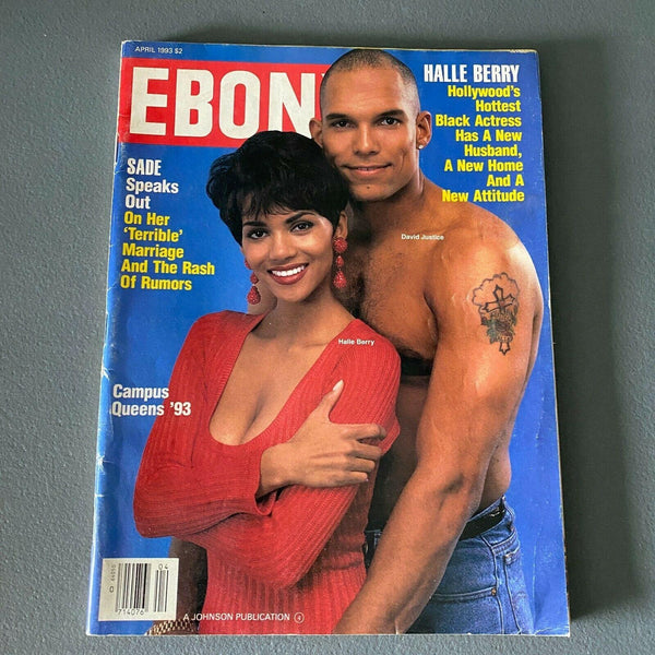Ebony Magazine April 1993 Halle Berry David Justice Sade Arthur Ashe