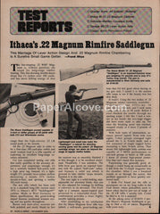 Ithaca .22 Magnum Rimfire Saddlegun 1975 vintage original old article