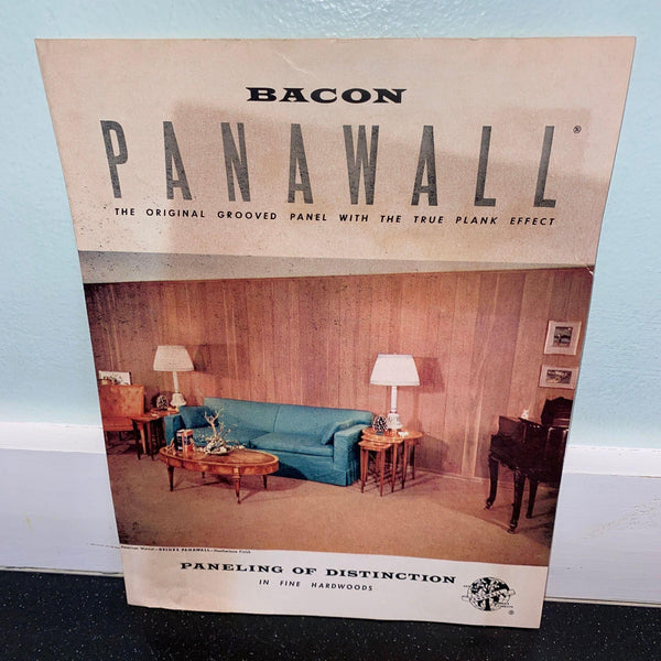 R.S. Bacon Veneer Co. Chicago IL Panawall Hardwood Paneling brochure 1950s vintage building products