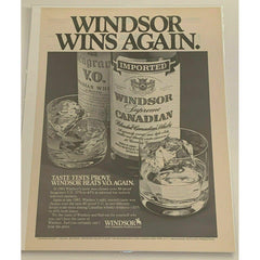 1983 Windsor Supreme Canadian Whisky Whiskey Vintage Magazine Print Ad