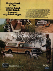 Ford F-150 Pickup Truck 1976 vintage original old magazine ad hunting