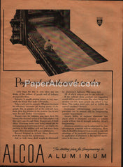 Alcoa Aluminum 1944 vintage original old magazine ad railroad cars