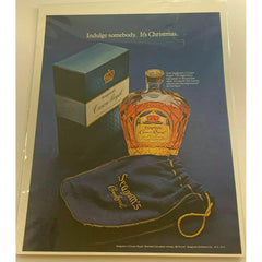 1971 Seagrams Crown Royal Canadian Whisky Christmas Vintage Magazine Print Ad