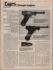 Stoeger Luger gun 1975 vintage original old article