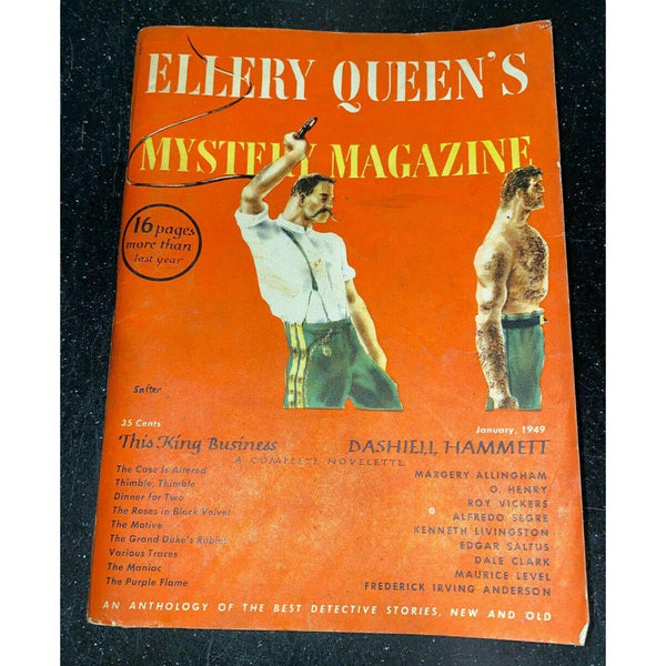 Ellery Queen's Mystery Magazine January 1949 Vol 13 No 62 Margery Allingham