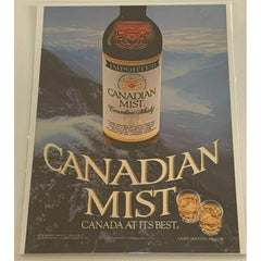 1984 Canadian Mist Whisky Whiskey Mountains Vintage Magazine Print Ad