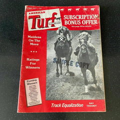 American Turf Monthly April 1977 Horse Racing Ratings Track Vintage Magazine