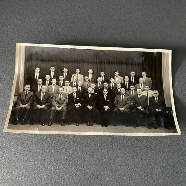 "Insurance Salesmen Vintage 5.5"" x 10"" Photo Casualty Claim School"