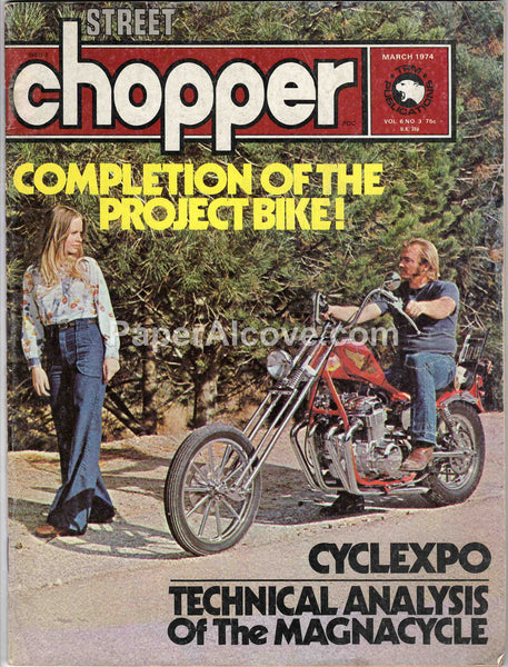 Street Chopper March 1974 old vintage magazine custom motorcycles Cyclexpo