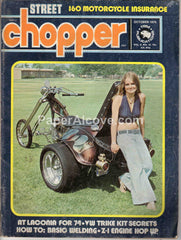 Street Chopper October 1974 old vintage magazine custom motorcycles VW Trike