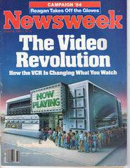 Newsweek August 6 1984 vintage magazine VCR home video revolution