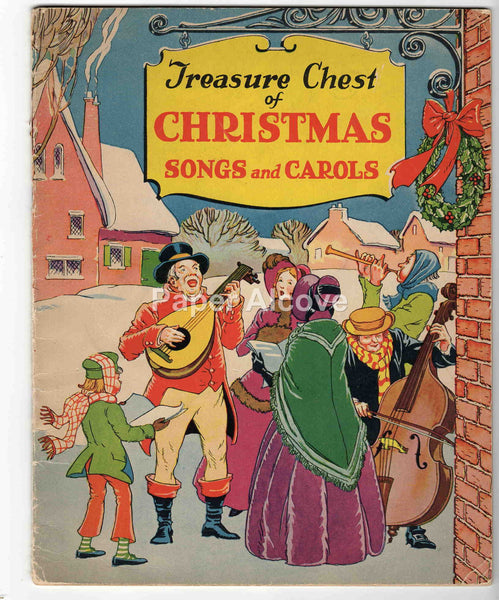Treasure Chest of Christmas Songs and Carols 1936 vintage song book music