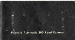 Polaroid Automatic 100 Land Camera vintage original instruction manual booklet 1968