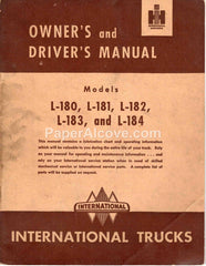 International Trucks Model L-180 L-181 L-182 L-183 L-184 1951 original vintage Owner's and Driver's Manual harvester