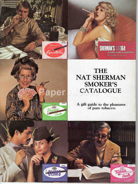 Nat Sherman 1970s vintage original Smoker's Catalog New York fine cigars pipe tobacco custom cigarettes man cave