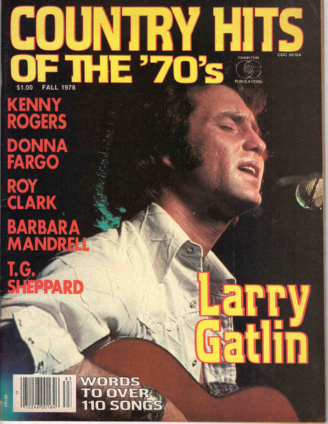Country Hits of the Seventies '70's Fall 1978 music magazine Larry Gatlin