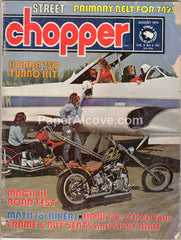 Street Chopper August 1974 old vintage magazine custom motorcycles Honda 750 Turbo Kit