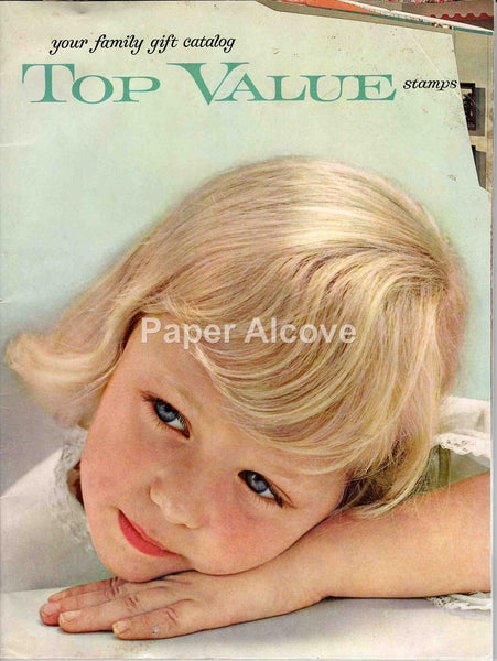 Top Value Stamps 1962 vintage original catalog family gift blonde girl toys