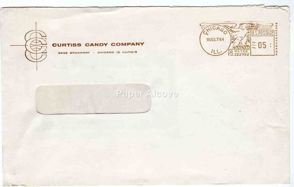 Curtiss Candy Company 1964 vintage Postal Cover trade commercial advertising Chicago IL