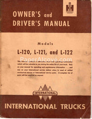 International Trucks Model L-120 L-121 L-122 1950 original vintage Owner's and Driver's Manual harvester