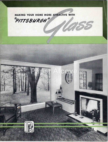 Pittsburgh Plate Glass Co. 1947 vintage brochure construction building home design