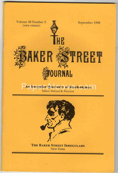 The Baker Street Journal September 1998 Sherlock Holmes scholarship fan fiction vintage magazine Irregulars sherlockiana
