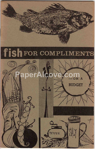 Fish for Compliments 1971 vintage original old Recipe Booklet U.S. Dept. of the Interior