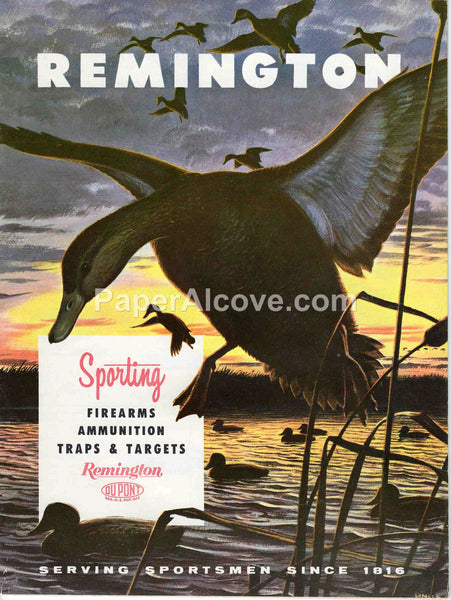 Remington Sporting Firearms Ammunition Traps & Targets 1961 vintage original old rifles and shotguns catalog